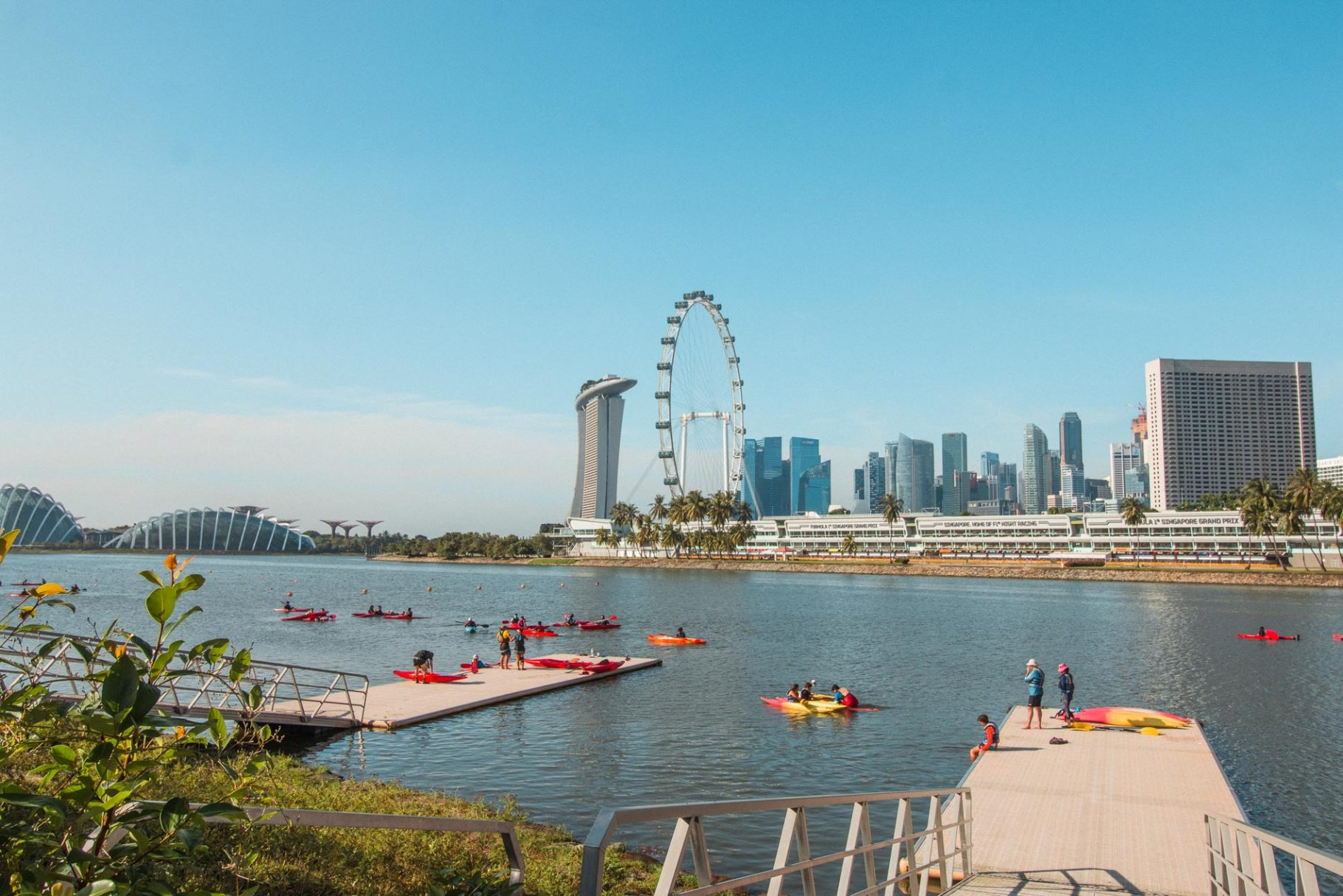 Instagram-worthy hike in Singapore from Stadium to Marina Bay Sands